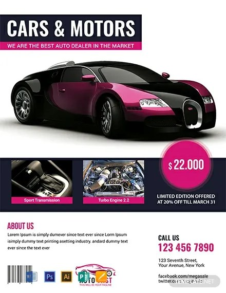FREE Auto Sales Flyer Template Download 812+ Flyers in PSD
