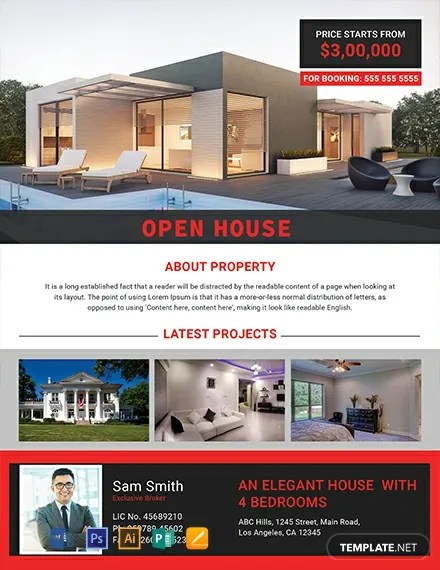 FREE Elegant Open House Flyer Template Download 800+ Flyers in PSD