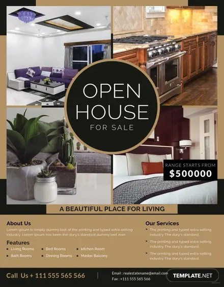 house for sale poster house sale flyer template free printable