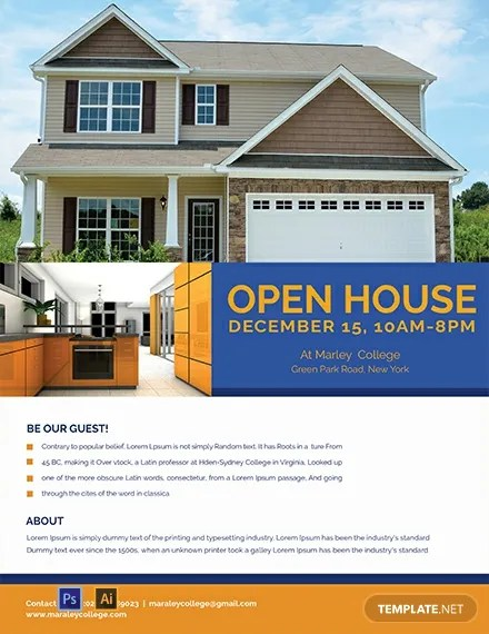 FREE Mortgage Open House Flyer Template Download 812+ Flyers in PSD
