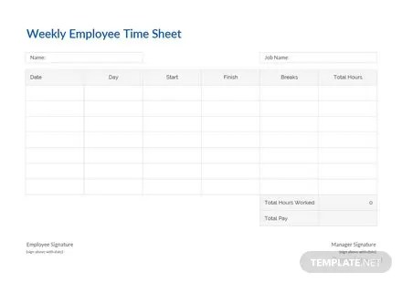 Employee Time Card Template Free Templates - employee time card