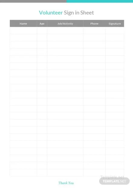 Conference Sign Up Sheet Template Free Templates