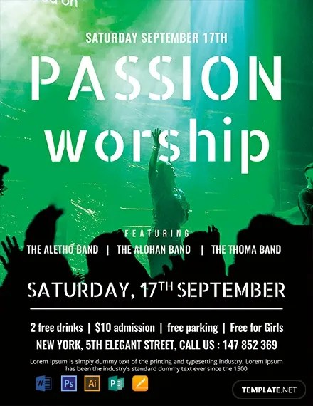 FREE Passion Worship Conference Flyer Template Download 812+ Flyers