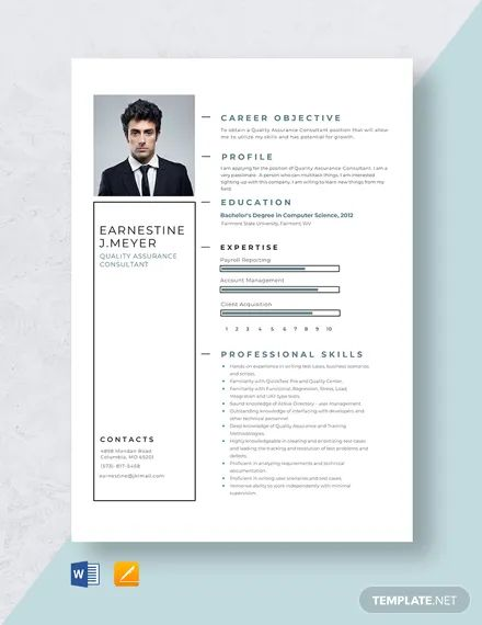 quality assurance manager resume word
