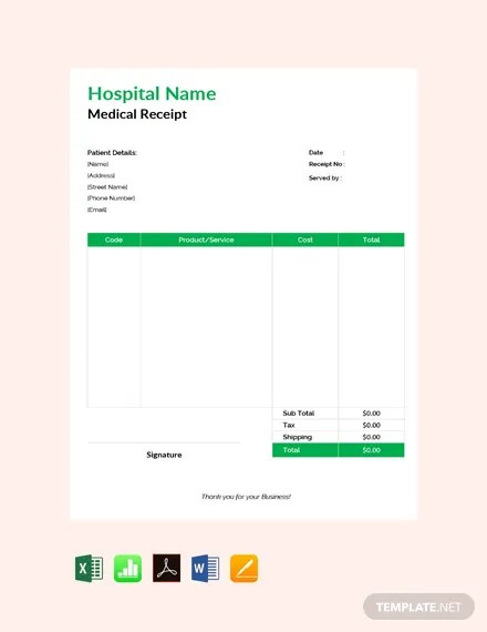 13+ FREE Google Docs Cash Receipt Templates Download Ready-Made