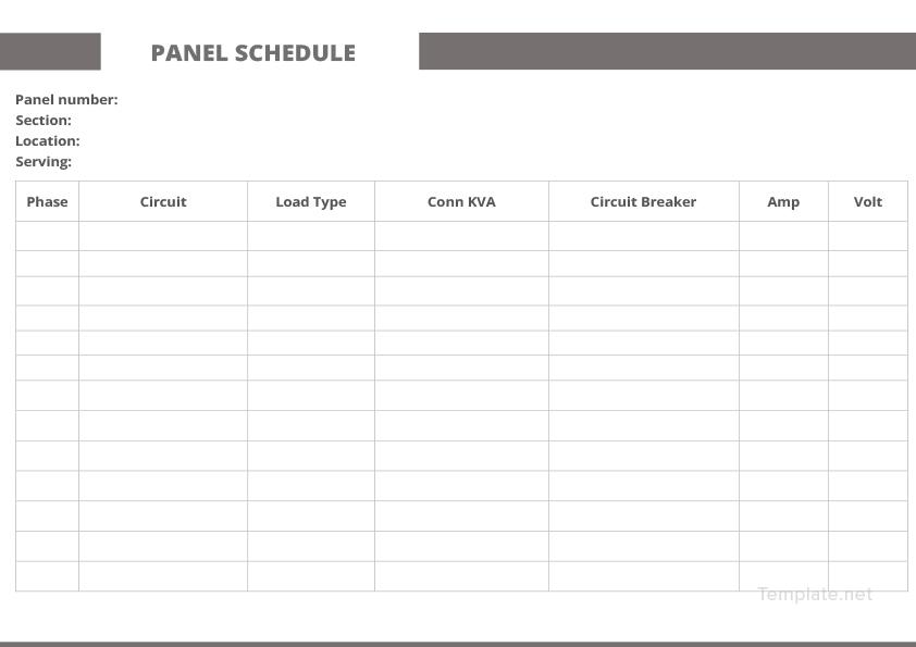 Sample Panel Schedule Template in Microsoft Word Templatenet - panel schedule template