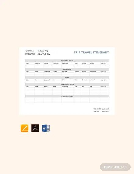 10+ FREE Google Docs Itinerary Templates Download Ready-Made