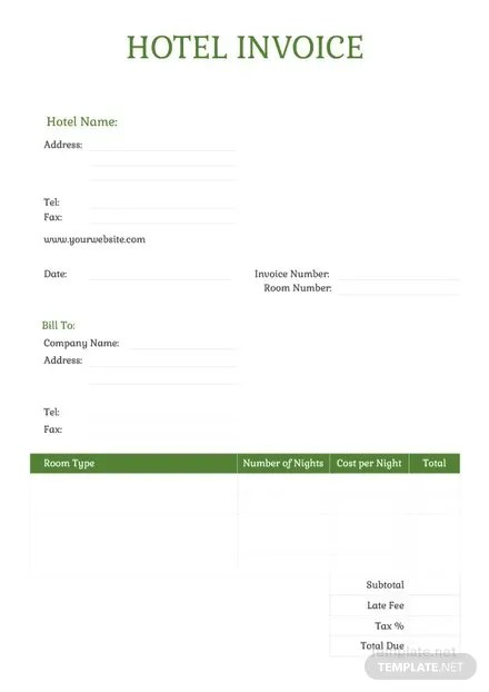 Sample Hotel Invoice Template Download 78+ Invoices in Word, Excel - hotel invoices