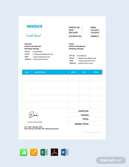 FREE Simple Invoice Format Download 156+ Invoices in Word, Excel