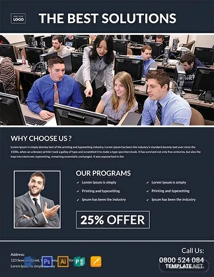 FREE Computer Training Flyer Template Download 812+ Flyers in PSD