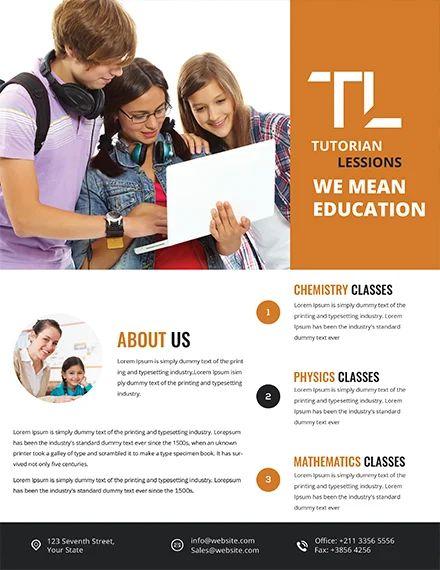 tutoring flyer template free word