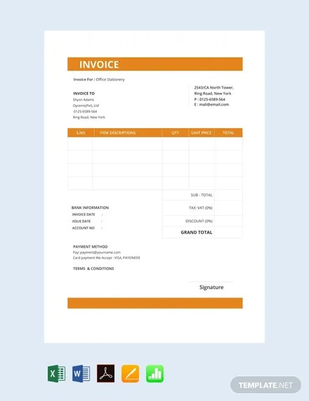 156+ FREE Invoice Templates Download Ready-Made Templatenet