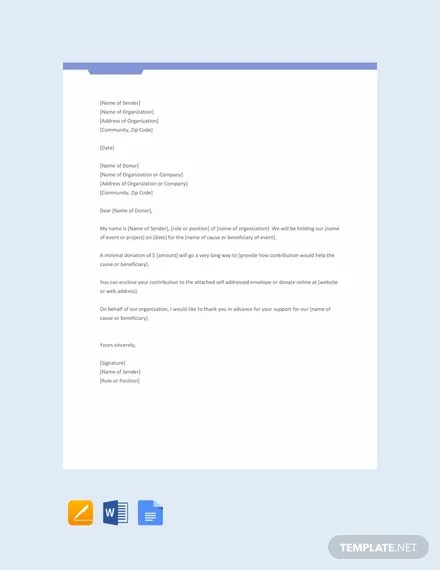 FREE Printable Donation Request Letter Template Download 2191+