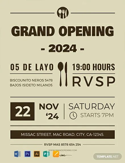 FREE Grand Opening Flyer Template Download 812+ Flyers in PSD