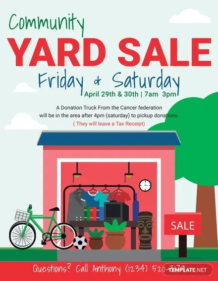 Free Sale Flyer Templates Free Templates - yard sale flyer template