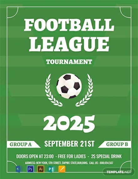 FREE Soccer League Flyer Template Download 812+ Flyers in PSD
