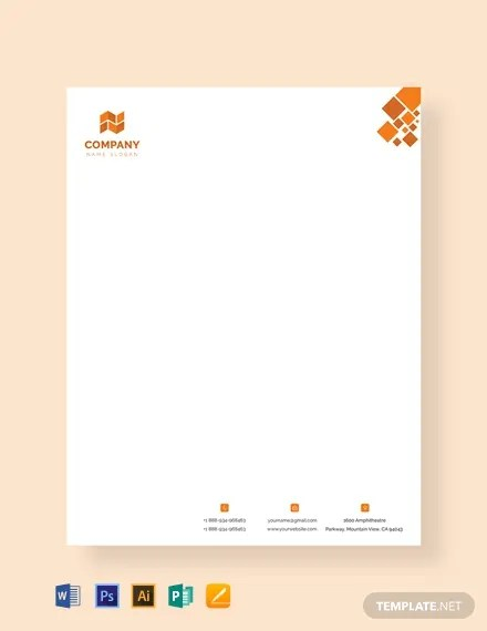 FREE Modern Letterhead Template Download 76+ Letterheads in PSD