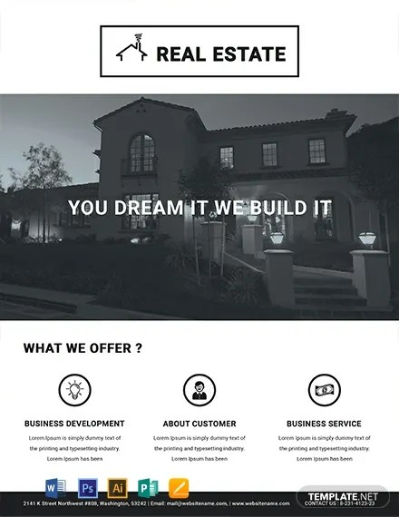 FREE Printable Real Estate Flyer Template Download 800+ Flyers in