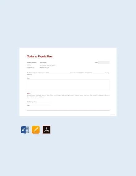 38+ Eviction Notice Templates - PDF, Google Docs, MS Word, Apple