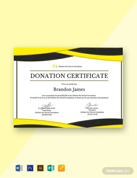 FREE Donation Certificate Template Download 435+ Certificates in