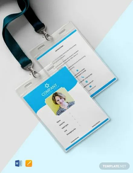 id card template free