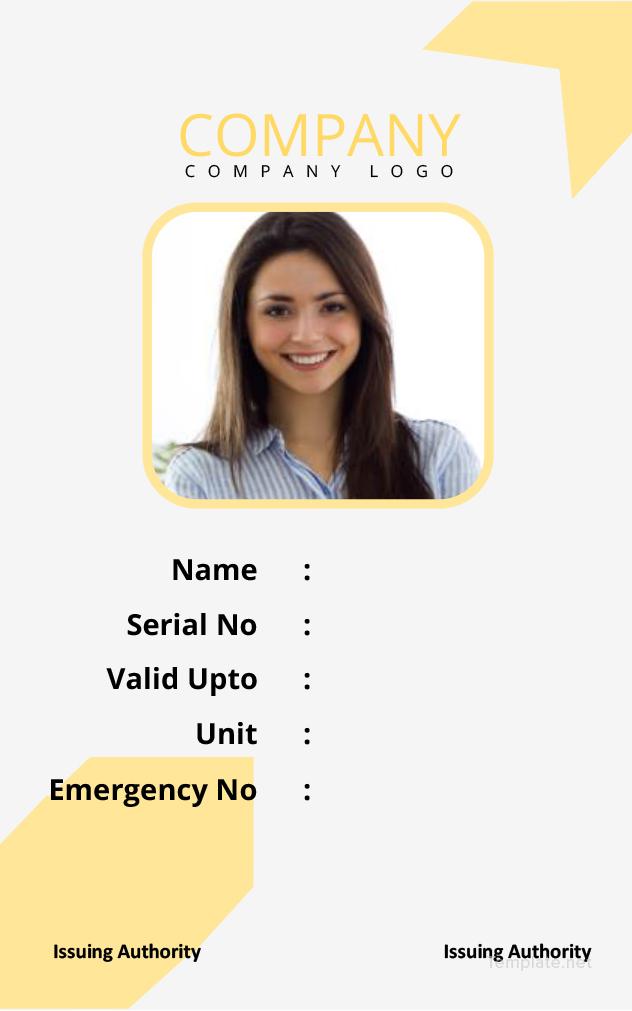 Id Format - Ordekgreenfixenergy5 best employee id card format in