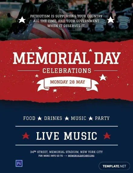 FREE Memorial Day Flyer Template Download 800+ Flyers in PSD