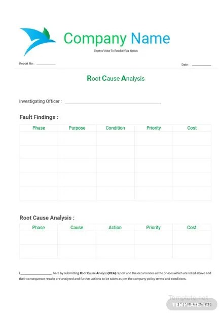 Root Cause Analysis Template Free Templates - root cause analysis template