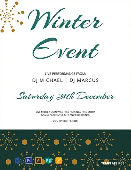 FREE Winter Events Flyer Template Download 812+ Flyers in PSD