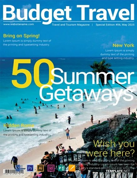 FREE Travel Magazine Cover Template Download 39+ Magazines in