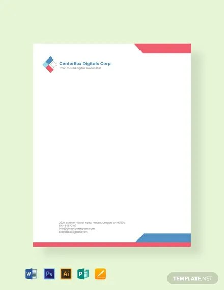 FREE Company Letterhead Template Download 84+ Letterheads in PSD
