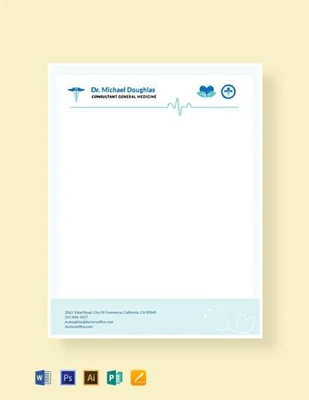 FREE Doctor Letterhead Format Template Download 84+ Letterheads in