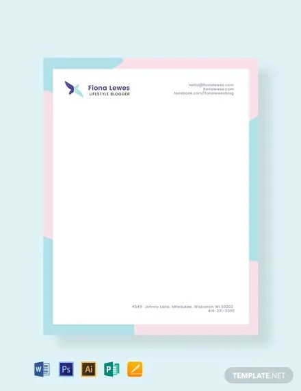 FREE Personal Letterhead Template Download 76+ Letterheads in PSD