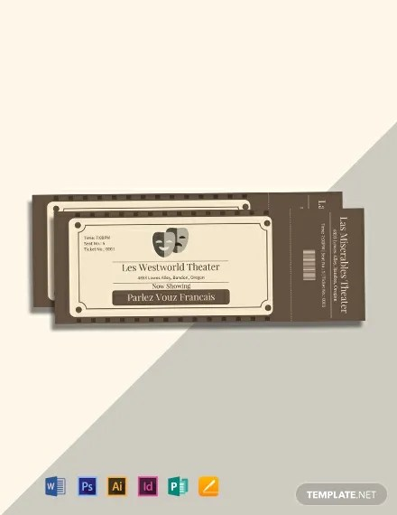 FREE Vintage Admission Ticket Template Download 101+ Tickets in PSD