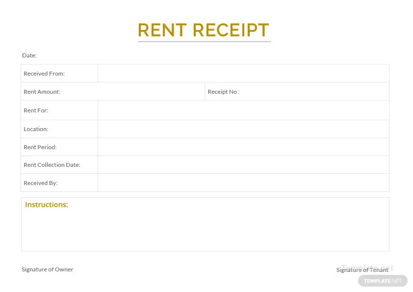 Sample Apartment Rent Receipt Template in Microsoft Word Templatenet - apartment rent receipt