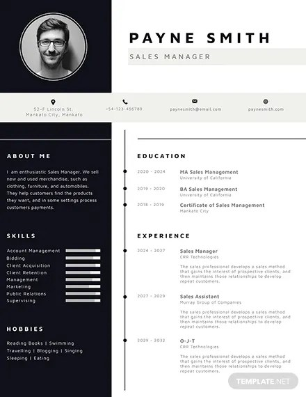 Corporate Resume Template Download 160+ Resumes in PSD, Illustrator - corporate resume template
