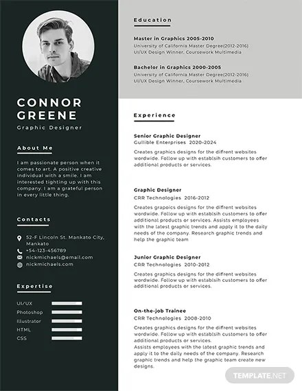 Sample Resume With Picture Template 200+ Free Resume Templates | Download Ready-made