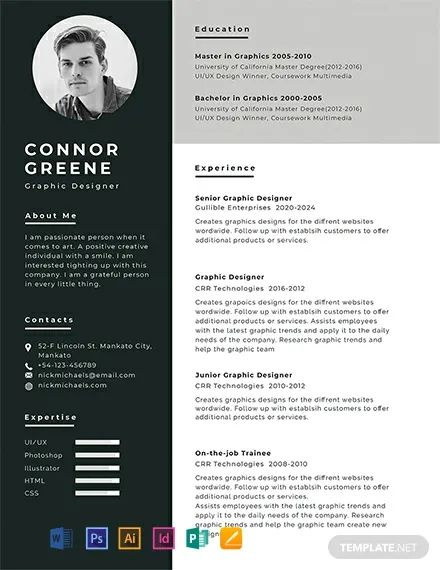 template cv francais indesign