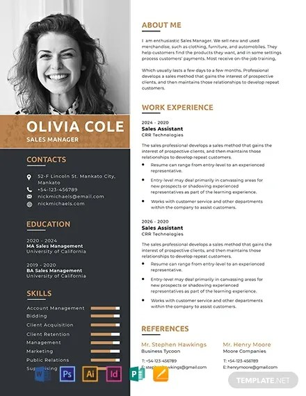 FREE One Page Resume Template Download 316+ Resume Templates in PSD