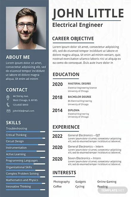 free resume templates word electrical engineer