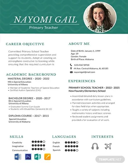 88+ FREE One Page Resume Templates Download Ready-Made Templatenet