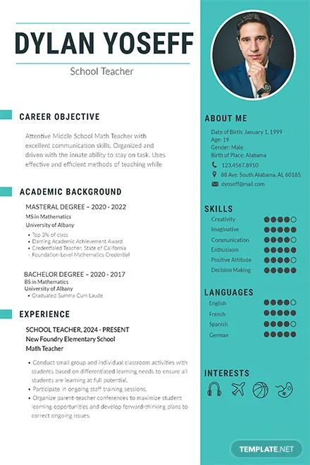 free resume templates one page