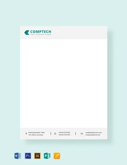 FREE Computer Service Letterhead Template Download 76+ Letterheads