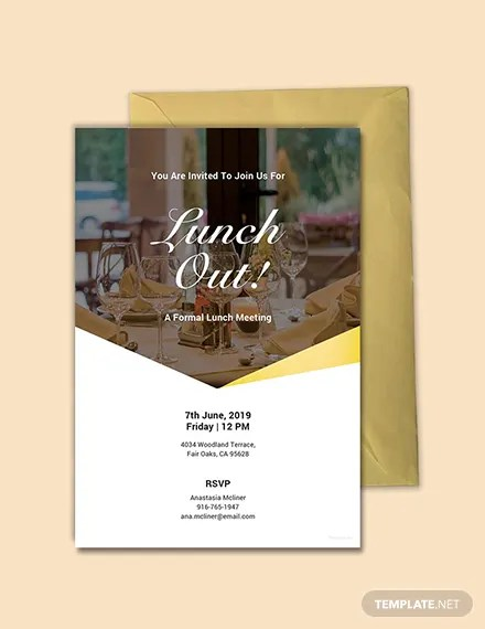 FREE Formal Lunch Invitation Template Download 637+ Invitations in
