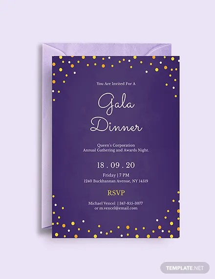 FREE Gala Dinner Night Invitation Template Download 344+