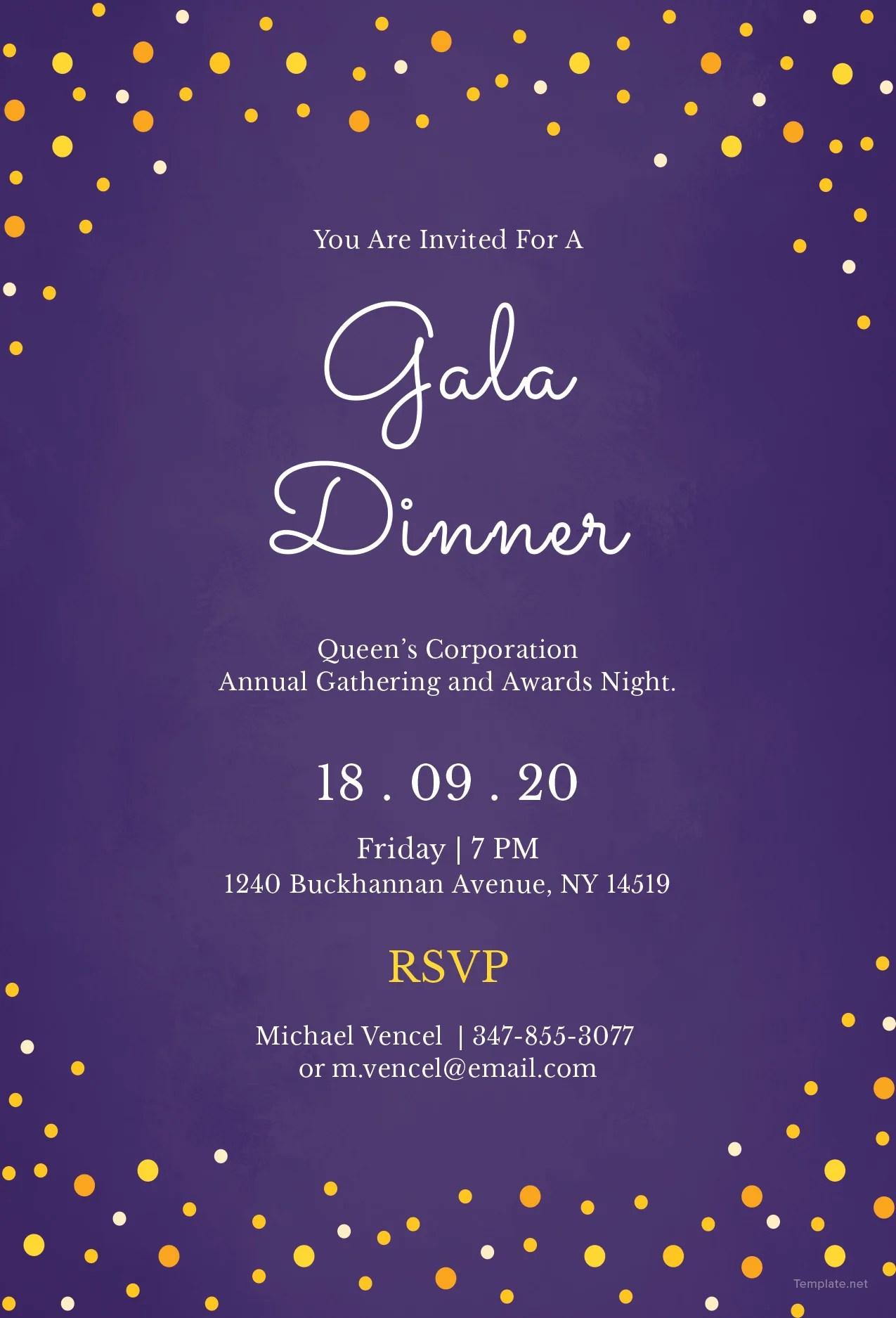 Fullsize Of Dinner Invitation Template