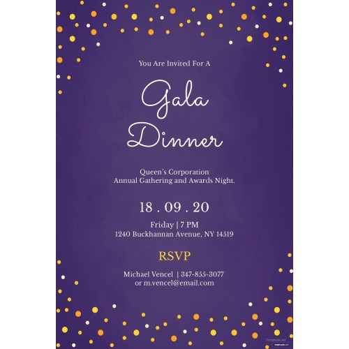 Medium Crop Of Dinner Invitation Template