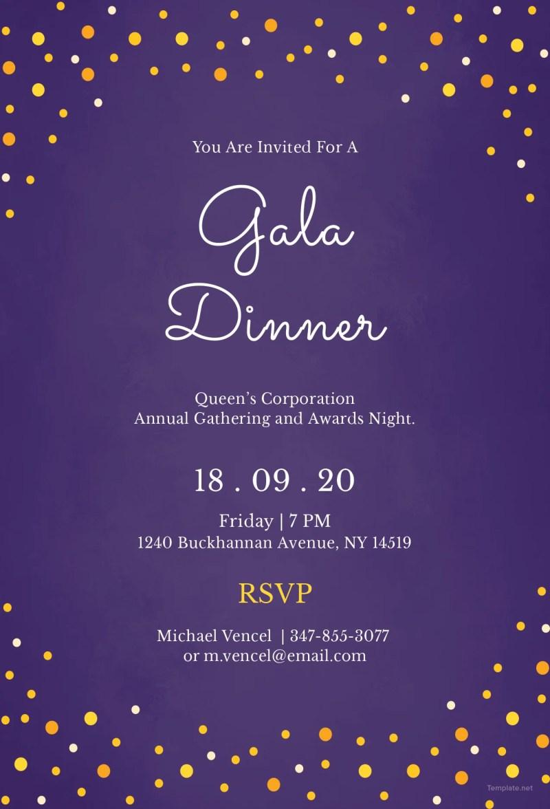 Large Of Dinner Invitation Template