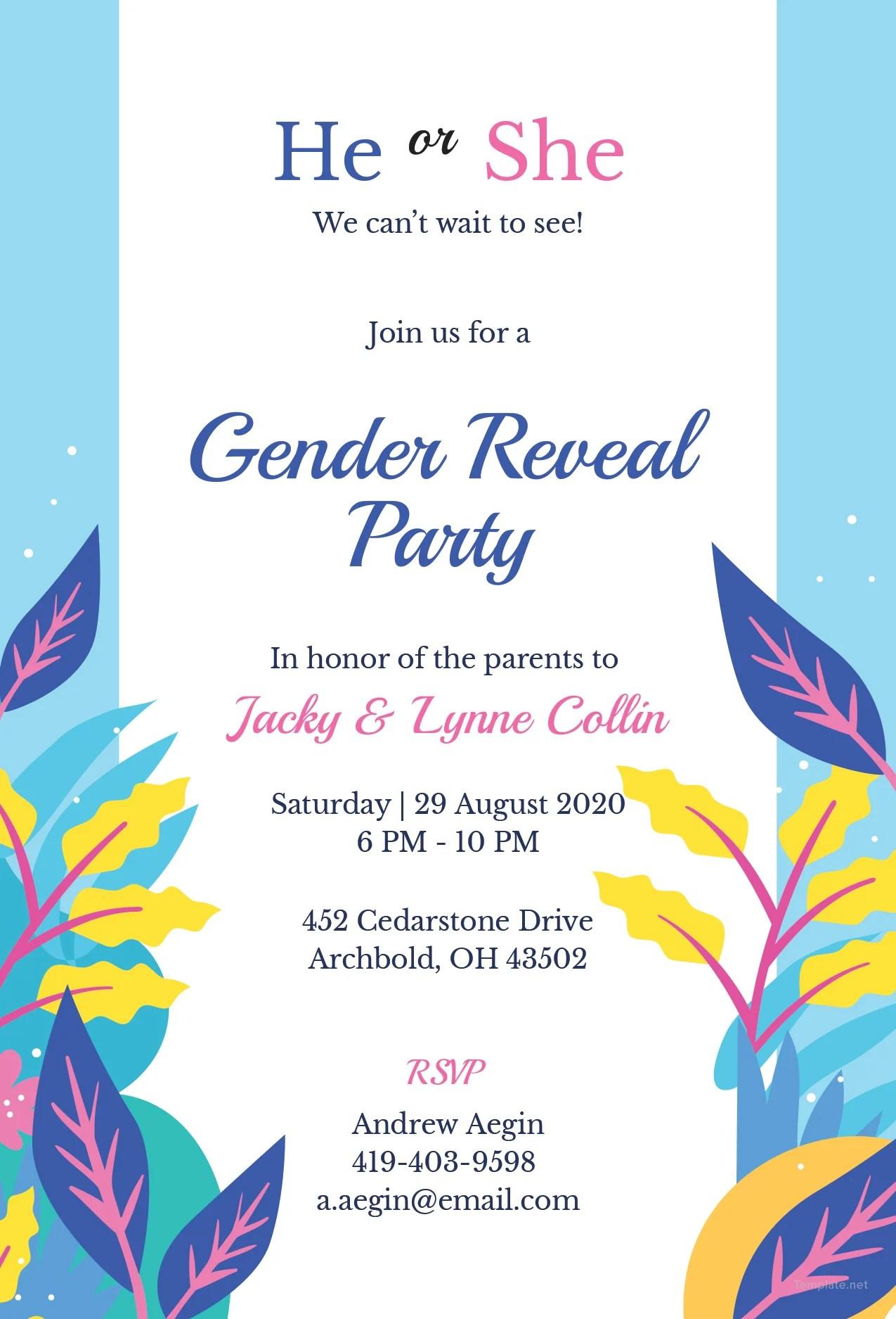 Fullsize Of Gender Reveal Invitations