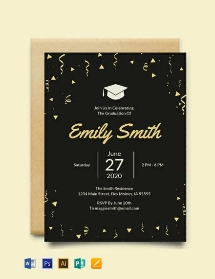 FREE Graduation Invitation Template Download 637+ Invitations in